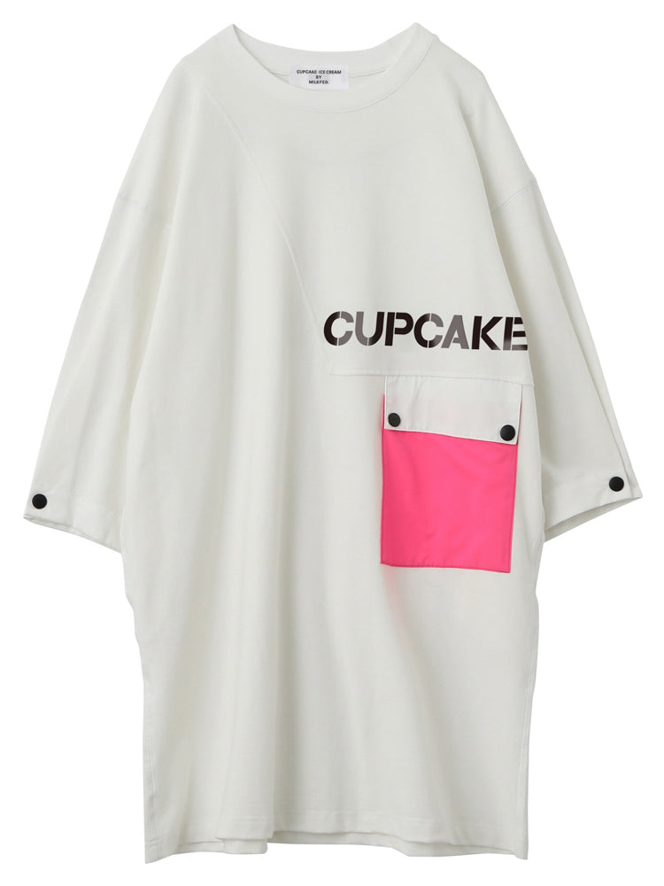 "【再販】""CUPCAKE"" NEON POCKET SS TEE【WHITE】"