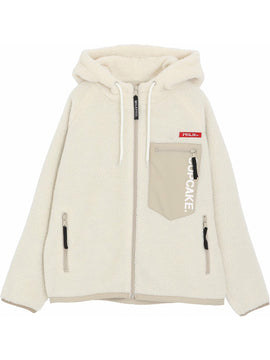 CUPCAKE ICE CREAM. BOA SHORT HOODED JACKET【WHITE】