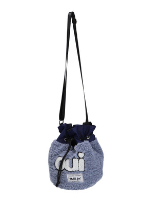 ♡oui♡BOA DRAWSTRING BAG【BLUE】