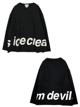 ICE CREAM DEVILS LOGO TOP【BLACK】