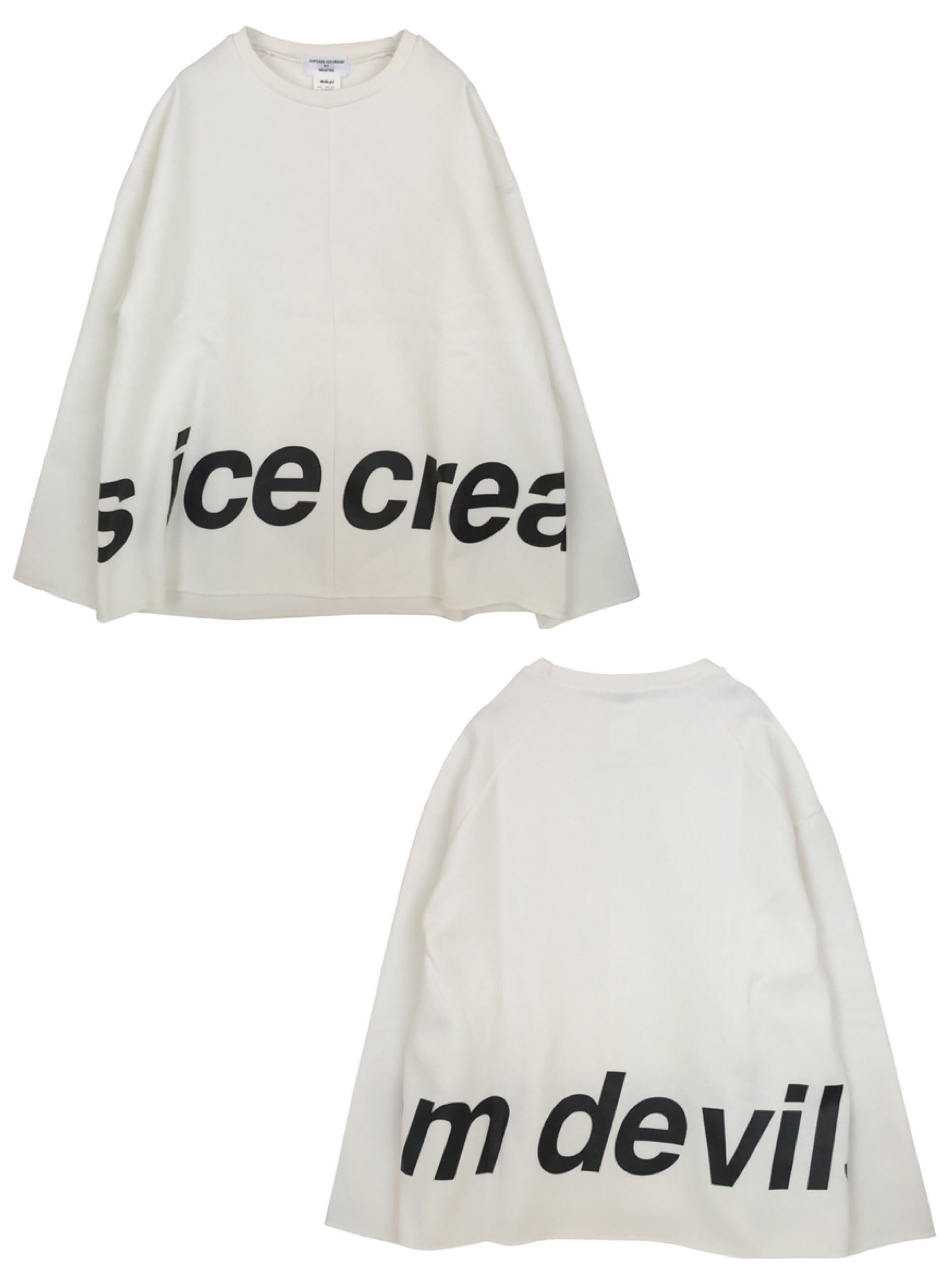 ICE CREAM DEVILS LOGO TOP【WHITE】