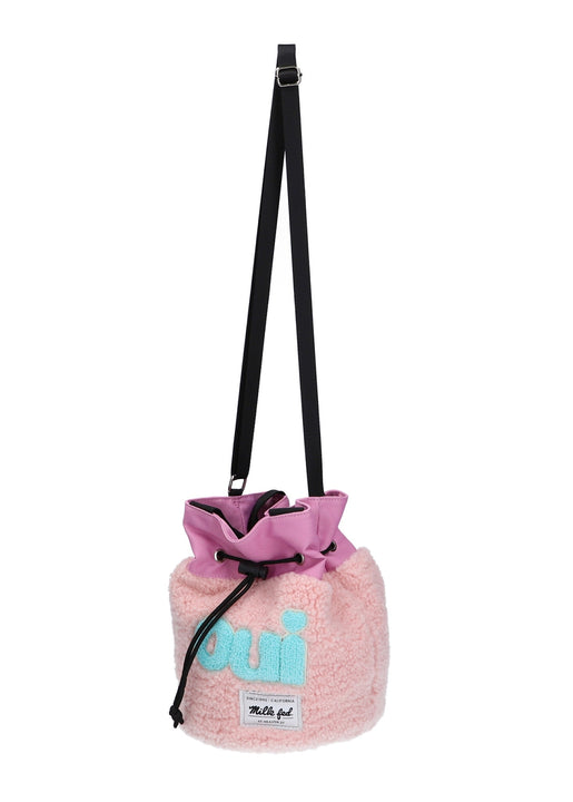 ♡oui♡BOA DRAWSTRING BAG【PINK】