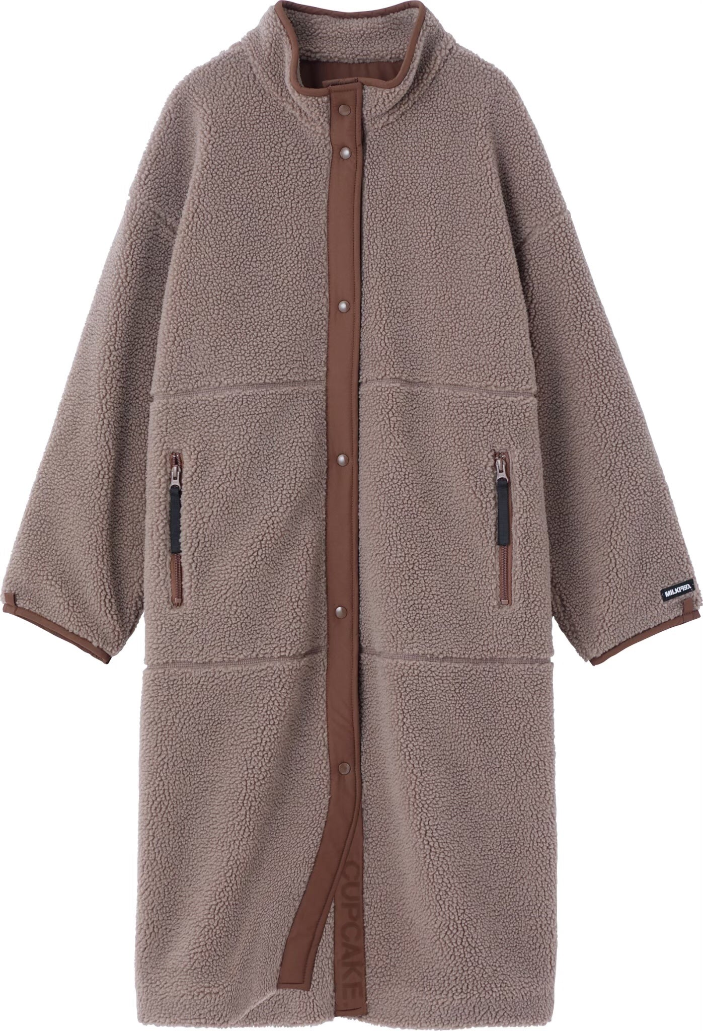 CUPCAKE ICE CREAM. BOA LONG JACKET【BROWN】