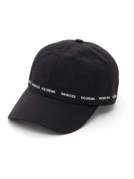ICE CREAM. LOGO TAPE CAP【BLACK】