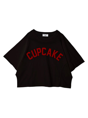 CUPCAKE DOLMAN SLEEVE TOP♥BLACK