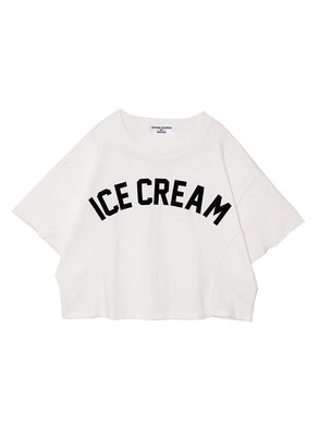 ICE CREAM DOLMAN SLEEVE TOP♡WHITE