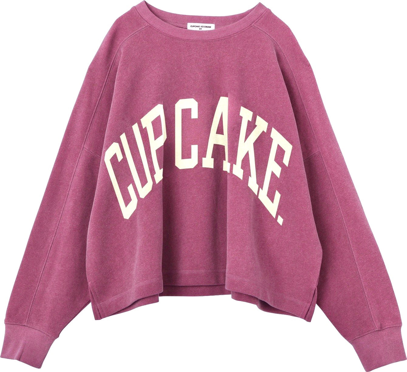 "THE VINTAGE FLAVOR SWEAT TOP ""CUPCAKE.""【CASSIS PINK/カシスピンク】"