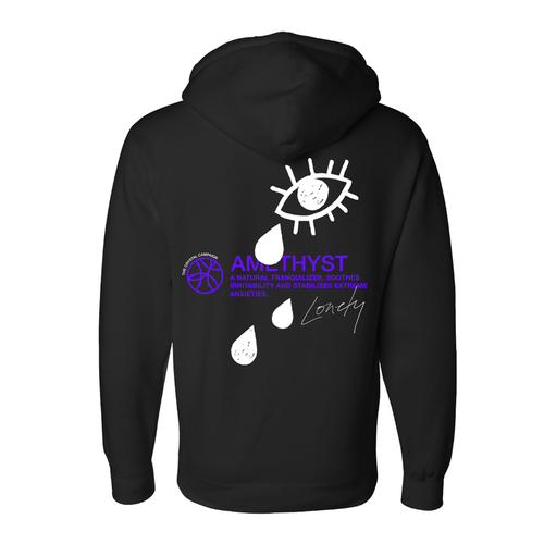 The Crystal Campaign x Lonely | Amethyst Hoodie - The Crystal Campaign