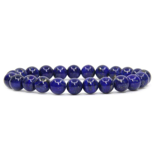 ABSORB | Authentic Lapis Lazuli Beaded Bracelet - The Crystal Campaign