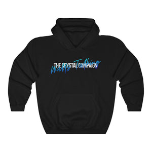 """Walls Talking"" Script Unisex Hoodie - The Crystal Campaign"
