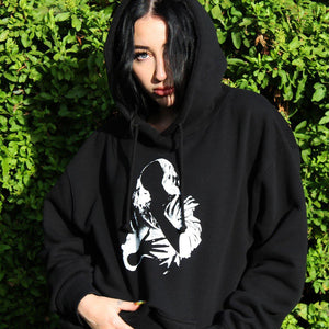 The Crystal Campaign x Lonely | Black Agate Hoodie - The Crystal Campaign