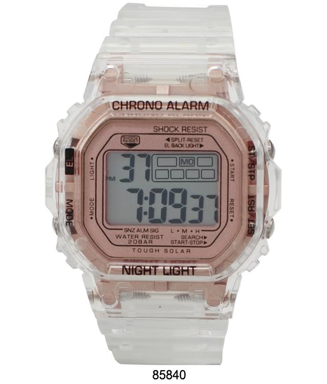 M Milano Expressions Smokey Transparent LCD Watch with Transparent