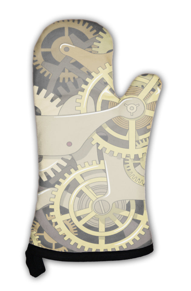 Oven Mitt, Gears In The Style Of Steam Punk
