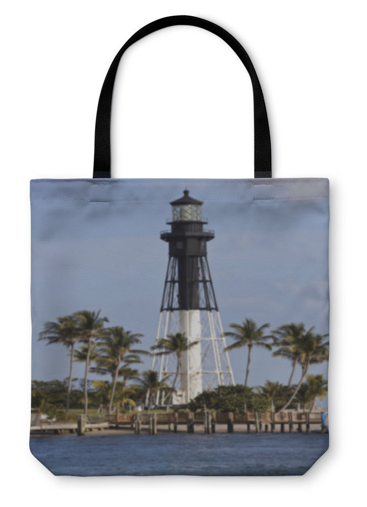 Tote Bag, Hillsboro Inlet Lighthouse In Pompano Beach