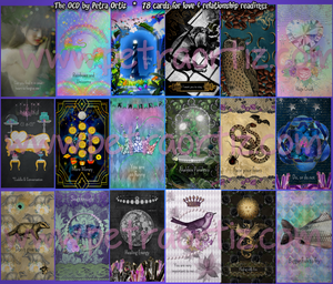 NEW 2020 The OCD Oracle Card Deck, 78 cards and velvet bag