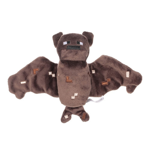Cute Brown BAT Plush Toy 18cm for Minecrafters Plush Soft Stuffed Gift for Bat Lovers