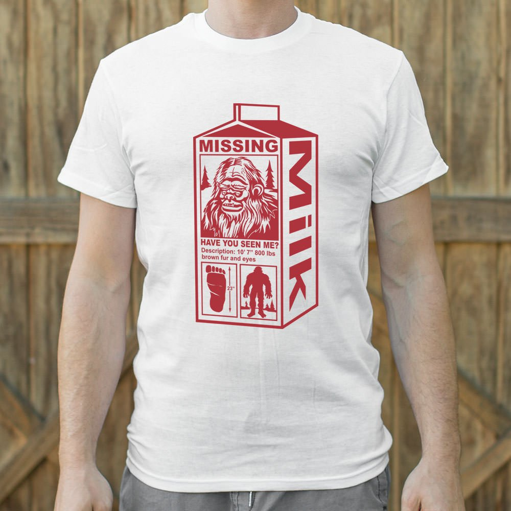 Sasquatch Milk Carton T-Shirt (Mens)