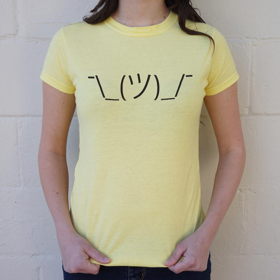Shrugging Emoji T-Shirt (Ladies)
