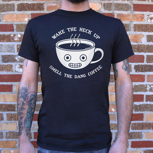 Smell The Coffee T-Shirt (Mens)