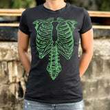 Tap The Spinal Skeleton T-Shirt (Ladies)