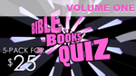 Bible Books Quiz 5-Pack - Volume One