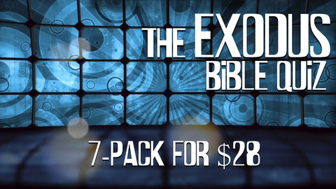 The Exodus Bible Quiz 7-Pack