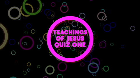 Sermon on the Mount, Part 1 - Bible Quiz