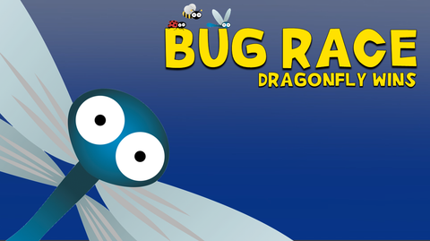 Bug Race - Dragonfly wins