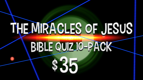 The Miracles of Jesus Bible Quiz 10-Pack