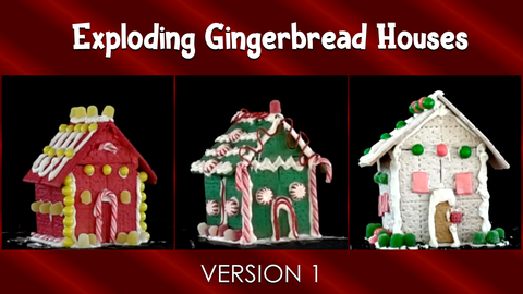 Exploding Gingerbread Houses - Version 1