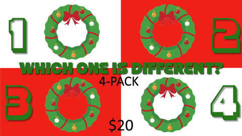 Which One is Different, Christmas Edition 4-Pack