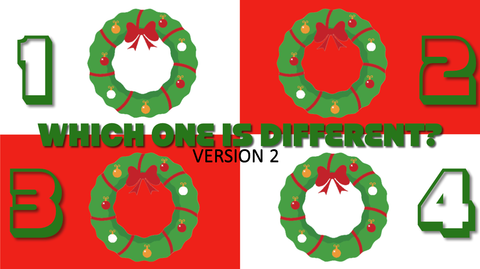 Which One is Different, Christmas Edition - Version 2