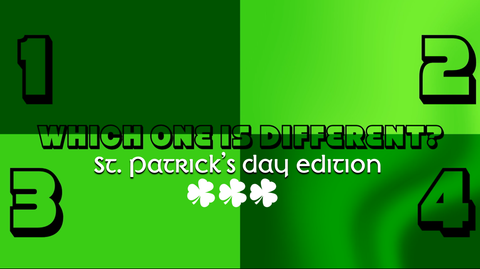 Which One is Different, St. Patrick's Day Edition