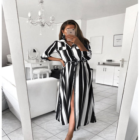 Pin Stripe Maxi