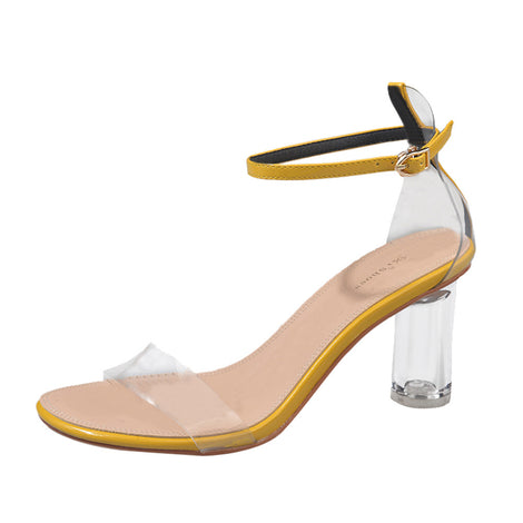 Transparency Is Key Block Heel