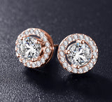 Stud Zirconia Earrings
