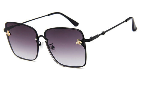 Rimless Gradient Square Sunglasses