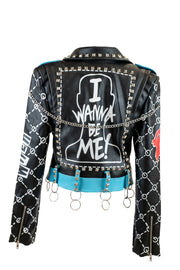 """I Wanna Be Me"" Studded Vegan Leather"