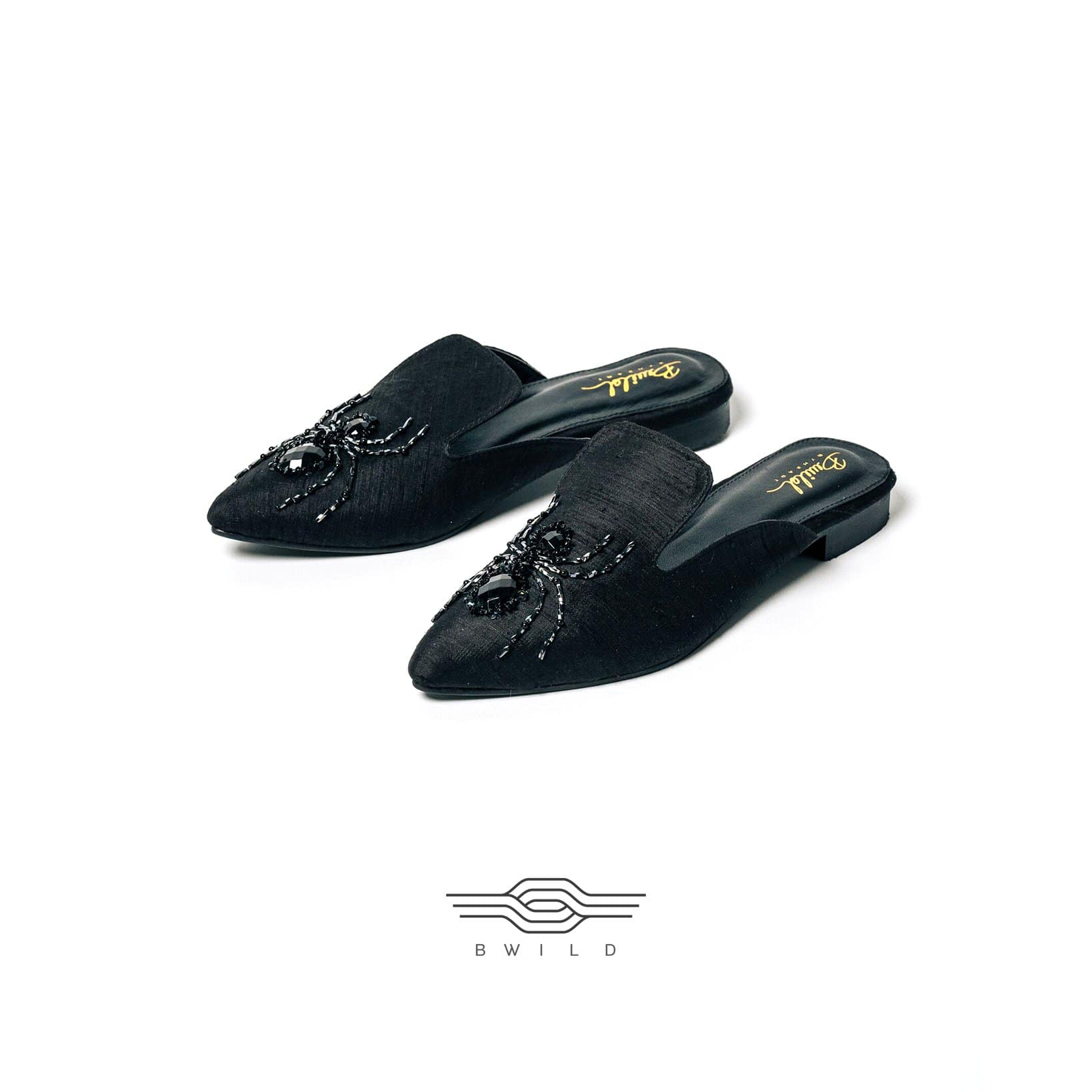 Wild in the city Mule Slippers - Black Spider - BWILD byHeart