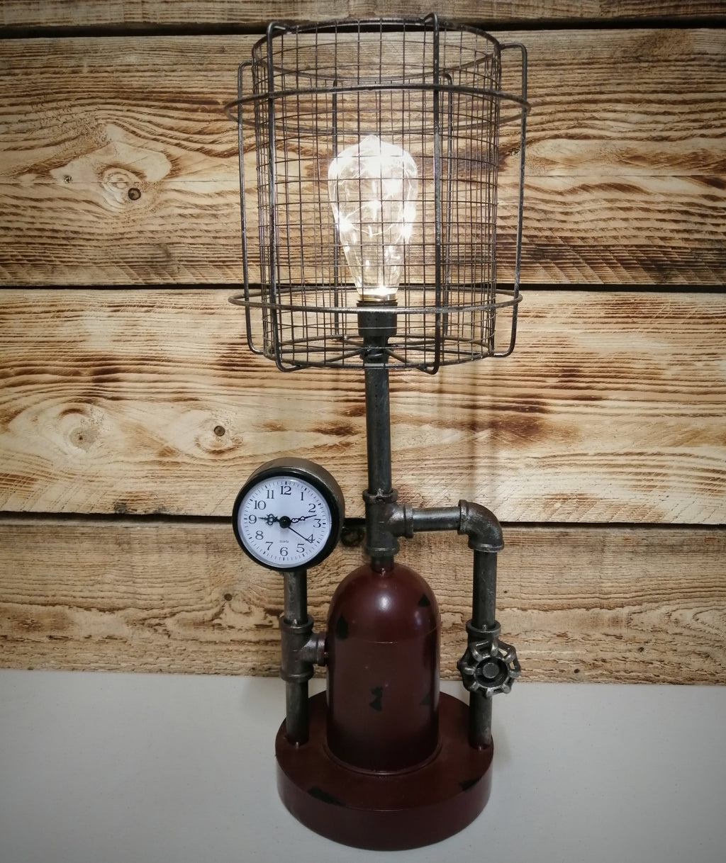 Caged Bulb Lamp