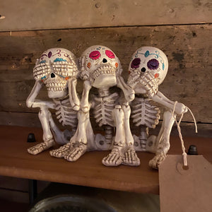 Decorative Three Laughing Skeletons