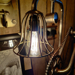 Industrial Style Bike Chain Lamp