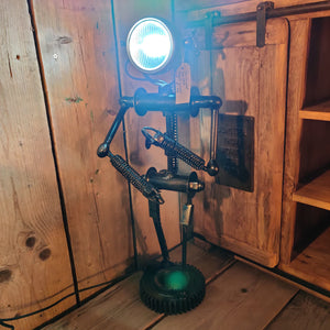 Industrial Style Nuts and Bolts Man Lamp