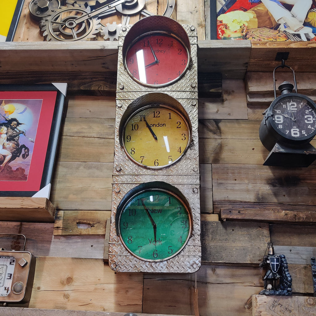 3 Face Traffic Light Clock