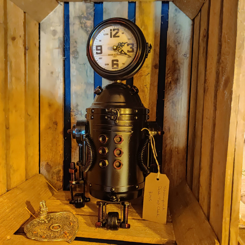 Steampunk Robot Clock