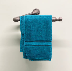 Industrial Style Kinked Towel Rack