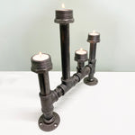 Industrial Style SteamPunk Tea Candle Holder, 4 Post