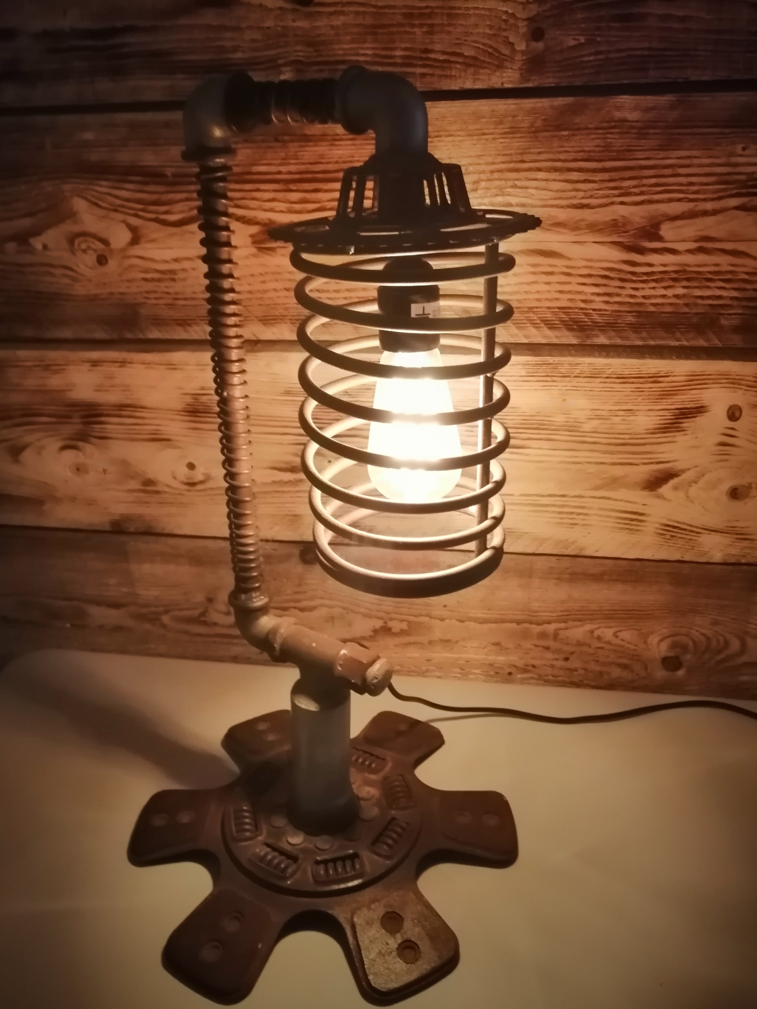 Industrial Style Spring and Pipe Lamp