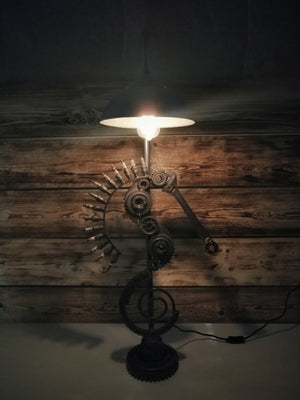 Industrial Style Seahorse Lamp