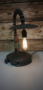 Industrial Style Metal Spine Lamp